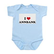 I HEART ANNBANK  Infant Creeper