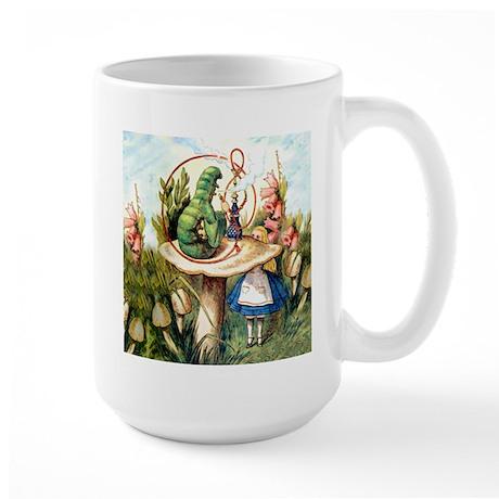 Alice Seeks Advice From the Caterpillar Large Mug