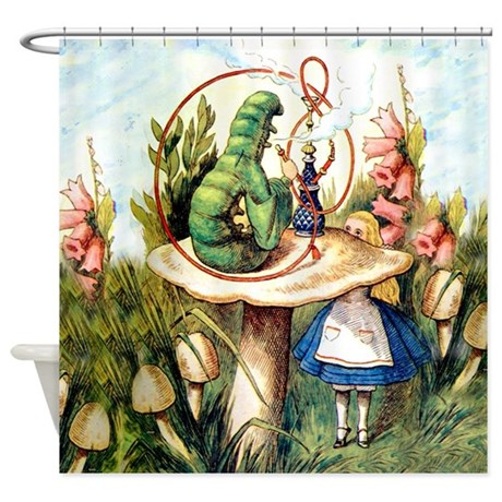 Alice Seeks Advice From the Caterpillar Shower Cur