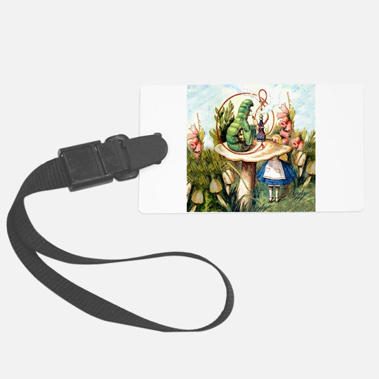 Alice Seeks Advice From the Caterpillar Luggage Tag