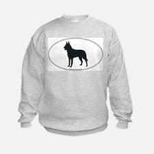 Belgian Malinois Silhouette Sweatshirt