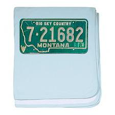 1974 Montana License Plate baby blanket