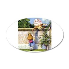 Alice and Humpty Dumpty Wall Decal