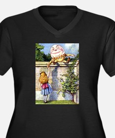 Alice and Humpty Dumpty Women's Plus Size V-Neck D