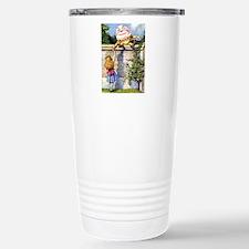 Alice and Humpty Dumpty Stainless Steel Travel Mug