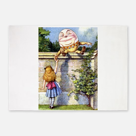 Alice and Humpty Dumpty 5'x7'Area Rug