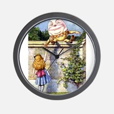 Alice and Humpty Dumpty Wall Clock