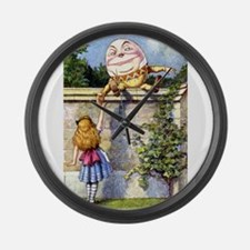 Alice and Humpty Dumpty Large Wall Clock
