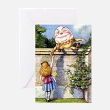 Alice and Humpty Dumpty Greeting Card