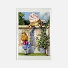 Alice and Humpty Dumpty Rectangle Magnet