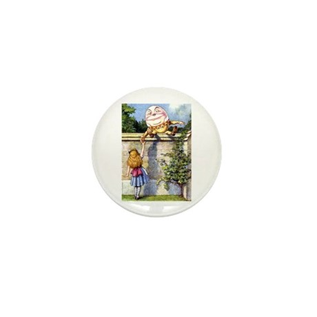 Alice and Humpty Dumpty Mini Button