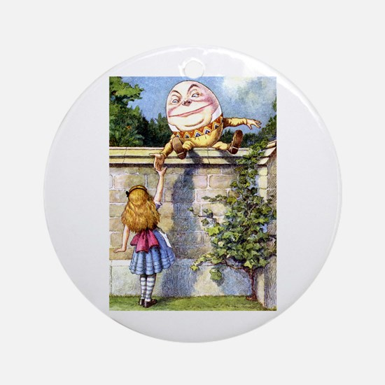 Alice and Humpty Dumpty Ornament (Round)