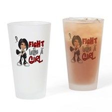 Licensed Fight Like a Girl 42.8 Ski Drinking Glass