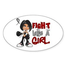 Licensed Fight Like a Girl 42.8 Ski Decal