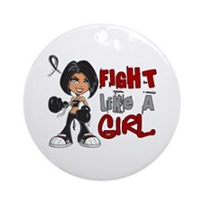 Licensed Fight Like a Girl 42.8 S Ornament (Round)