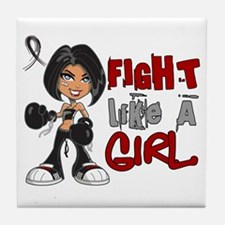 Licensed Fight Like a Girl 42.8 Skin Tile Coaster