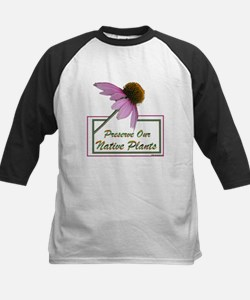 Native Plants Kids Baseball Jersey