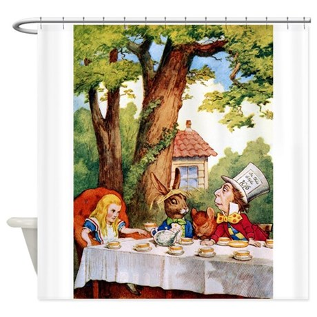 Mad Hatter's Tea Party Shower Curtain