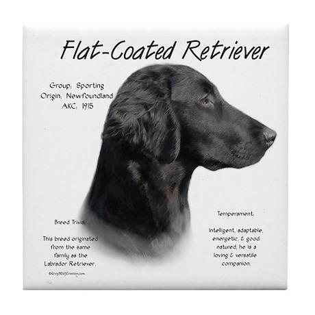 Flat Coat Tile Coaster