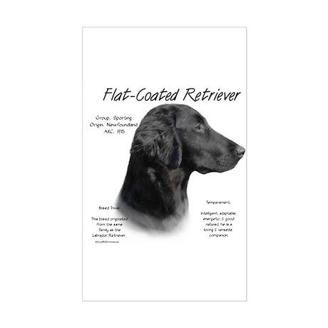 Flat Coat Rectangle Sticker
