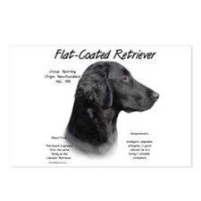 Flat Coat Postcards (Package of 8)