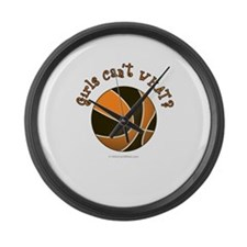 basketball-black-orange.png Large Wall Clock
