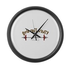 weightlifting.png Large Wall Clock