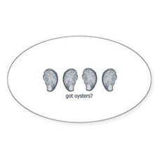 got oysters? logo Decal