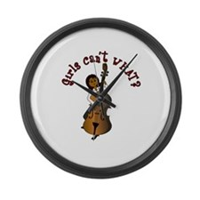 string-bass-dark.png Large Wall Clock