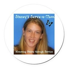 Stacey's Serve-a-Thon Banner Round Car Magnet