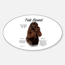 Field Spaniel Oval Decal