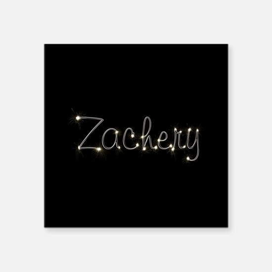 "Zachery Spark Square Sticker 3"" x 3"""