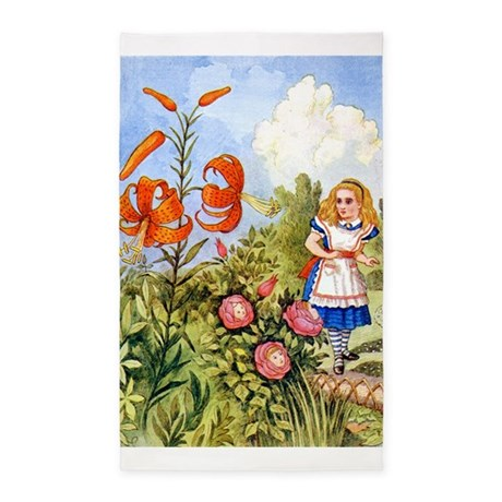 Alice and the Talking Flowers 3'x5' Area Rug
