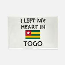 I Left My Heart In Togo Rectangle Magnet