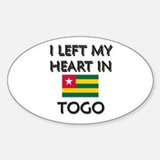 I Left My Heart In Togo Oval Decal