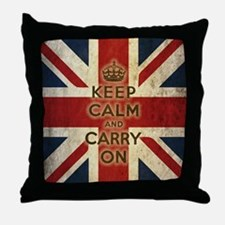 Cute Keep calm and carry on Throw Pillow