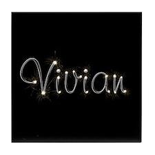 Vivian Spark Tile Coaster