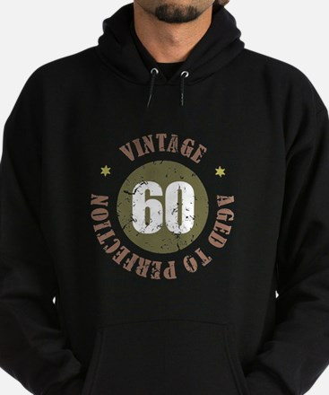 60th Vintage birthday Hoodie (dark)
