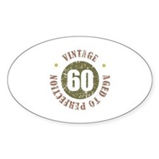 60th Vintage birthday Decal
