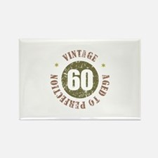 60th Vintage birthday Rectangle Magnet (10 pack)