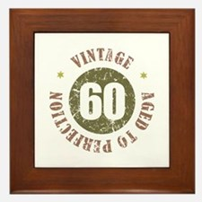 60th Vintage birthday Framed Tile
