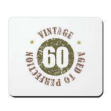 60th Vintage birthday Mousepad
