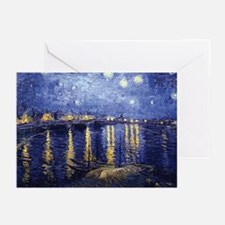 Starry Night Over the Rhone Greeting Cards (Pk of