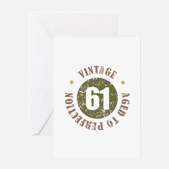 61st Vintage birthday Greeting Card