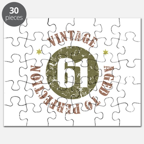 61st Vintage birthday Puzzle