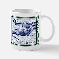 1942 Argentina Caiman Postage Stamp Mug