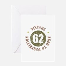 62nd Vintage birthday Greeting Card