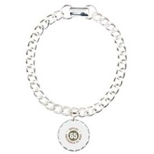 65th Vintage birthday Charm Bracelet, One Charm