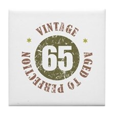 65th Vintage birthday Tile Coaster