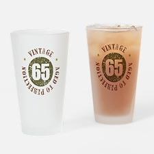 65th Vintage birthday Drinking Glass